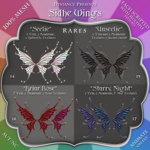 Deviance - Fantasy Gacha - Sidhe Wings Rares