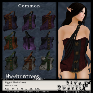 .{5&20}. FGC - Huntress Corset - COMMON