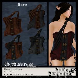 .{5&20}. FGC - Huntress Corset - RARE
