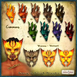 [V_W] Fiery and Feral Masks - Gacha 02 - AD