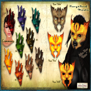 [V_W] Fiery and Feral Masks - Gacha 02 - All