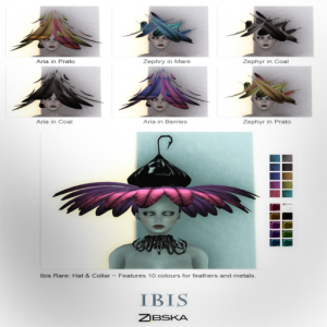 Zibska ~ Ibis Hats for FGC